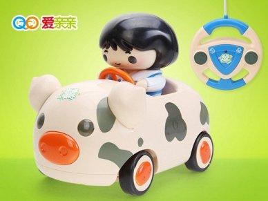 工程车 ¥ 79 ¥ 爱亲亲 卡通方向盘遥控车电动带声光音乐儿童