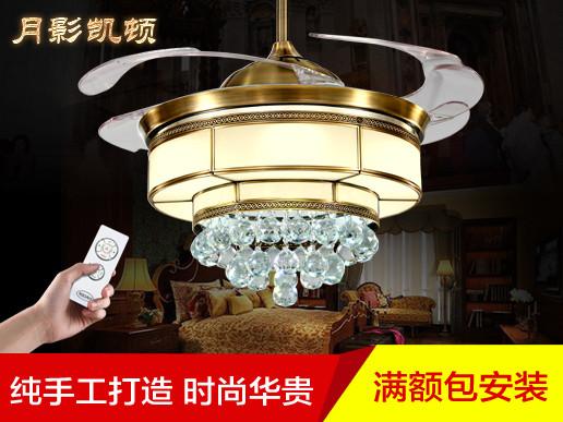 欧式吊扇灯餐厅灯风扇吊灯