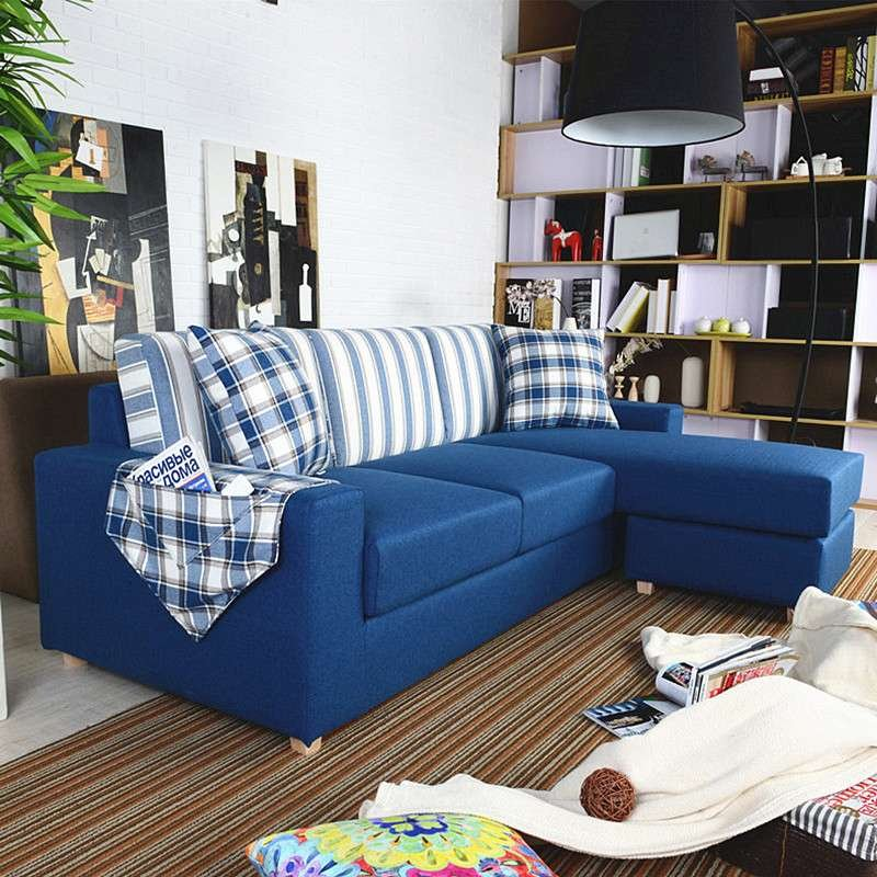 北欧风格蓝色客厅