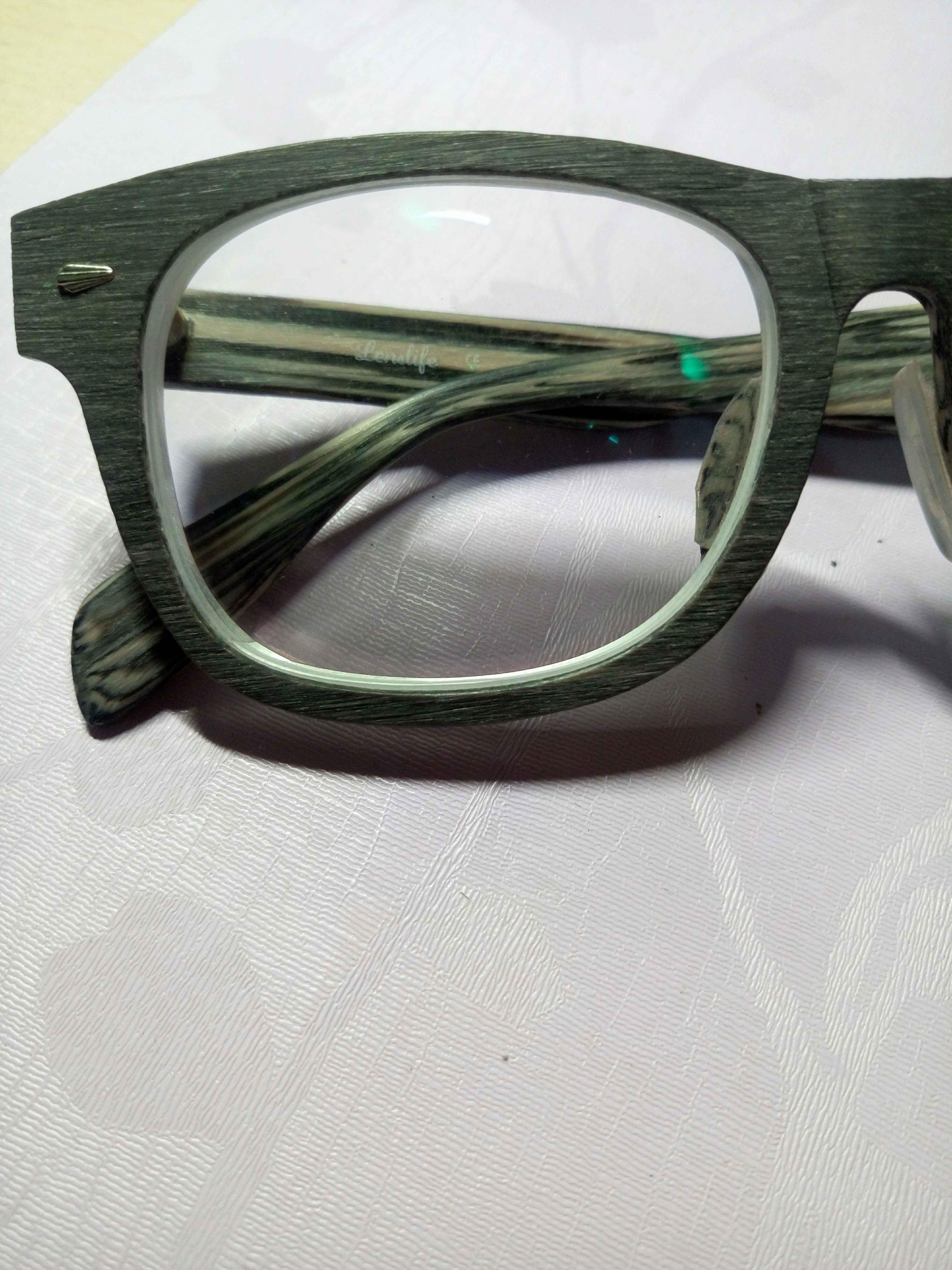 二手深灰复古木质眼镜框交易