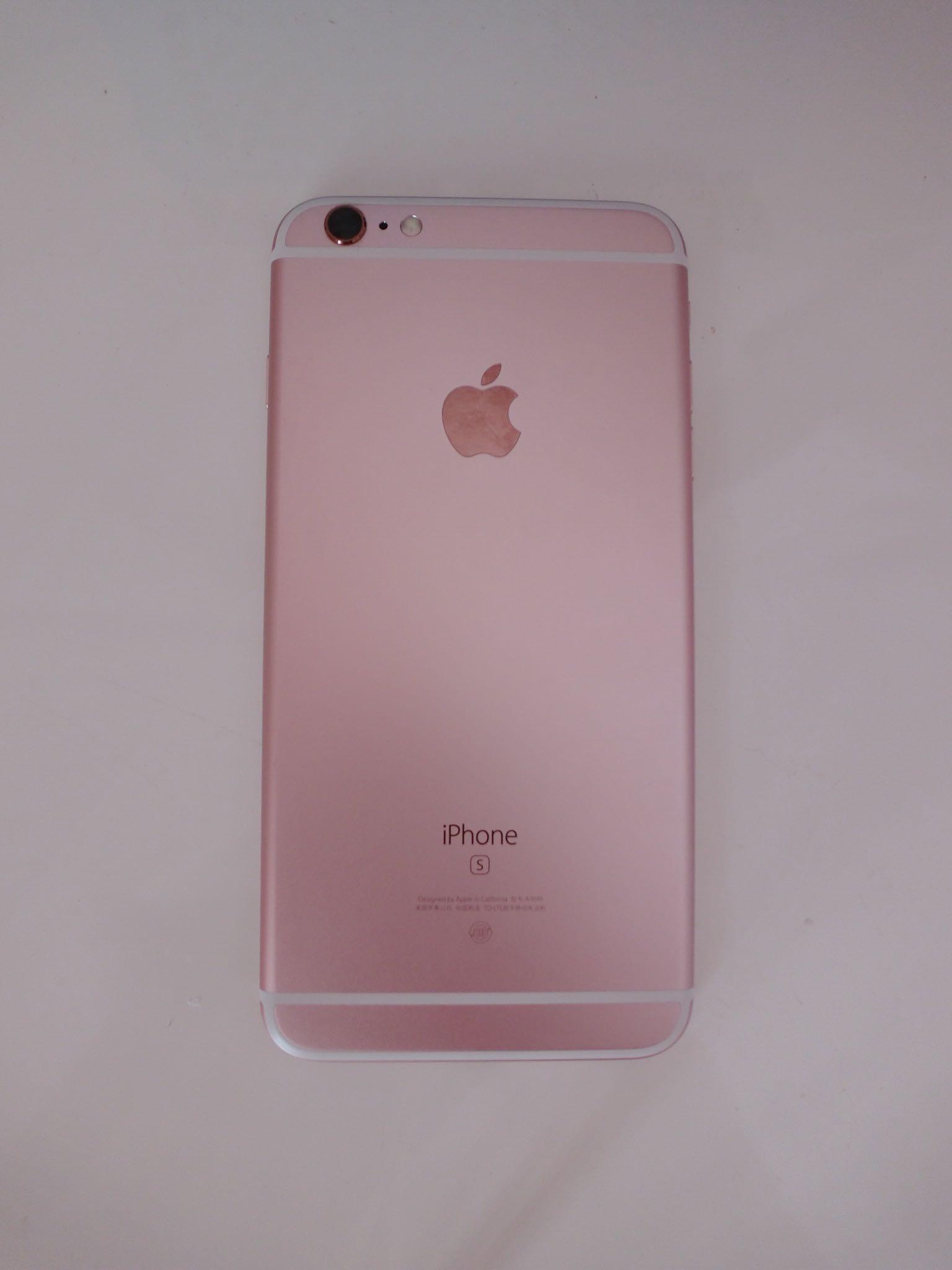 苹果6s plus 玫瑰金16g