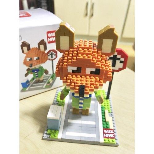 智鹰全新正品钻石小颗粒积木 疯狂动物城狐狸 儿童玩具 包邮