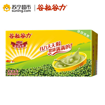 谷粒谷力 绿豆浓浆 含乳饮料 250ml*18/箱 箱装