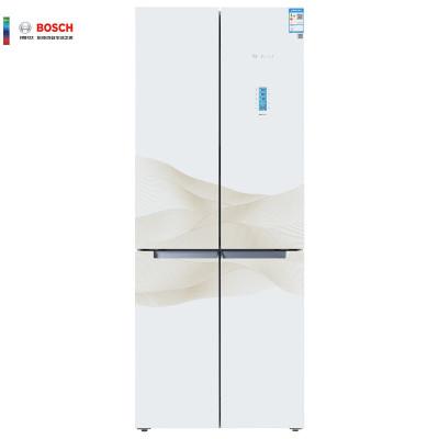 博世(BOSCH) KMF46S20TI 452升 变频 混冷无霜 零度保鲜 玻璃面板 十字对开门多门冰箱(白色金线)