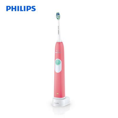 飞利浦(PHILIPS) 电动牙刷 HX6225/16 充电式声波震动牙刷 去除牙菌斑 甜美粉