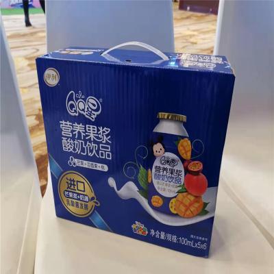 伊利QQ星营养果酱酸奶饮品芒果百香果桃100ml*5*6