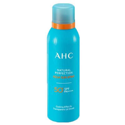 AHC自然水润PA++++防晒隔离喷雾180ml保湿补水 清爽防晒 提亮舒缓 面部全身户外各种肤质通用 韩国原装正品