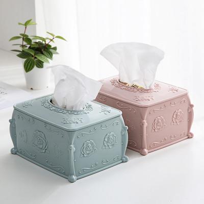 纸巾盒客厅创意抽纸盒简约欧式可爱多功能塑料茶几餐巾纸盒 北欧米