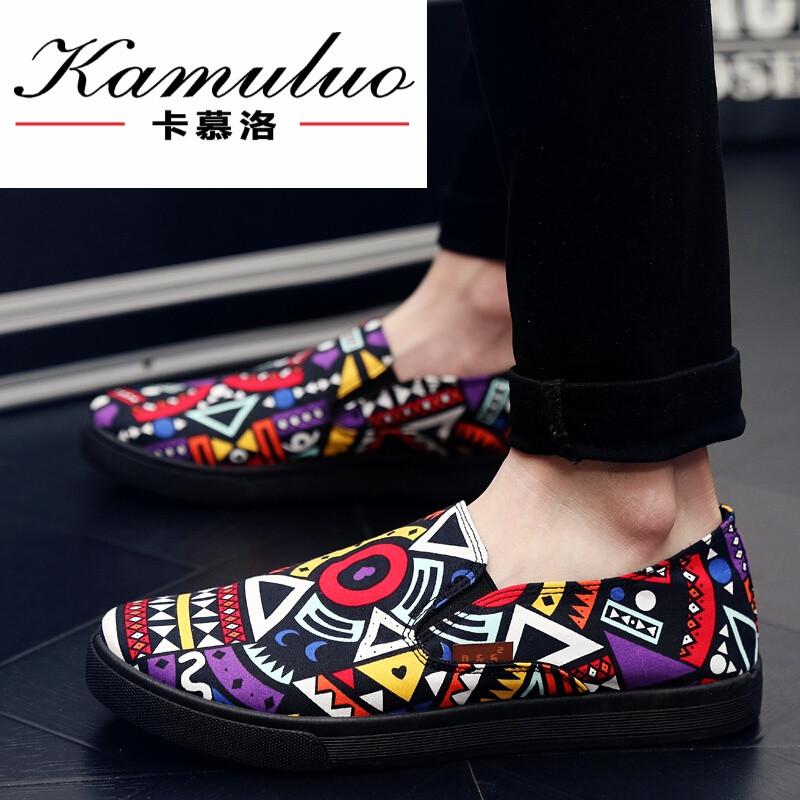 卡慕洛春夏季青春潮流乐福鞋男鞋韩版低帮鞋一