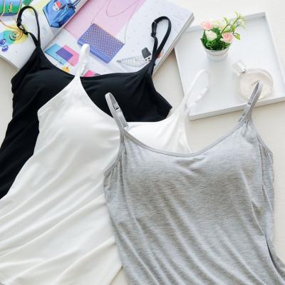 9汪新春款Bra-Top带胸垫裹胸抹胸打底内衣女款防走光带文胸一体式吊带背心