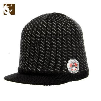 快乐狐狸(ActionFox)运动户外男女电脑提花针织保暖时尚复古包头帽有檐毛线帽现633-3533
